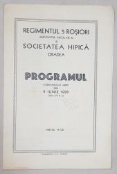 PROGRAMUL CONCURSULUI HIPIC - ORADEA, 1929