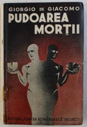 PUDOAREA MORTII de GIORGIO DE GIACOMO , coperta si desene de THEO , 1935