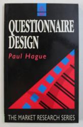 QUESTIONNAIRE DESIGN by PAUL HAGUE, 1993