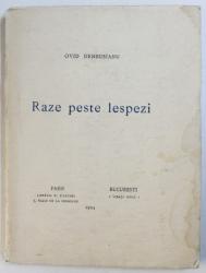 RAZE PESTE LESPEZI  - versuri de OVID DENSUSIANU , 1924