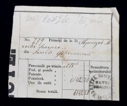 RECIPISA DE POSTA , DESTINATA PRINCIPELUI MIHAIL STURZA , MIJOCUL SECOLULUI XIX