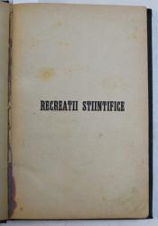 RECREATII STIINTIFICE  - REVISTA , APARE O DATA PE LUNA , ANUL III INTEGRAL  , COLEGAT DE  12 NUMERE , APARUTE IN INTERVALUL IANUARIE  - DECEMBRIE , 1885