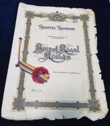 Regatul Romaniei - Brevet Regal Roman Nr. 33491