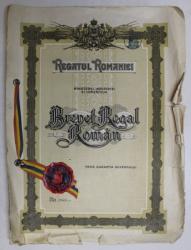 Regatul Romaniei  - Brevet Regal Roman Nr. 33620
