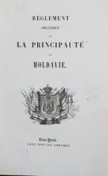 Regulamentul organic al Principatului Moldovei, traducere de G. Asaki - New York, 1834