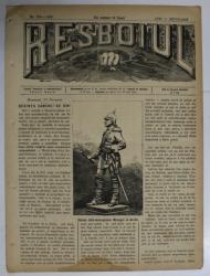 RESBOIUL  - ZIAR CU APARITIE ZILNICA , IN BUCURESTI , NR. 928 , LUNI , 11  FEBRUARIE , 1880 , PREZINTA PETE