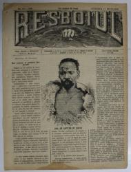 RESBOIUL  - ZIAR CU APARITIE ZILNICA , IN BUCURESTI , NR. 934  , DUMINICA  , 17  FEBRUARIE , 1880 , PREZINTA PETE