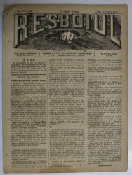 RESBOIUL  - ZIAR CU APARITIE ZILNICA , IN BUCURESTI , NR. 942  , LUNII , 25   FEBRUARIE , 1880 , PREZINTA PETE