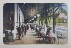 RESTAURANT CU TERASA LA BAILE FELIX , CARTE POSTALA ILUSTRATA , 1921