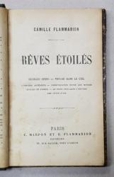 REVES ETOILES par CAMILLE FLAMMARION , 1888, CONTINE EX LIBRIS *
