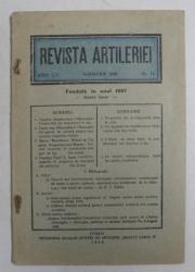 REVISTA ARTILERIEI  - ANUL LIV  - NO.11 , NOIEMBRIE , 1940