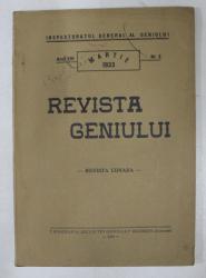 REVISTA GENIULUI  - REVISTA LUNARA , ANUL XVI  , NR. 3  , MARTIE , 1933