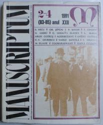 REVISTA MANUSCRIPTUM NR. 2-4 (83-85) ANUL XXII , 1991