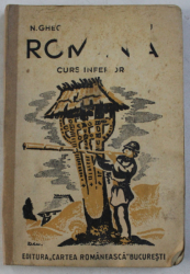 ROMANIA, PAMANTUL SI POPORUL ROMANESC PENTRU CLASA IV-A de N. GHEORGHIU, I. SIMIONESCU  1942 CONTINE HALOURI DE APA*