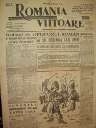 ROMANIA VIITOARE, SAPTAMANAL DE NATIONALISM CONSTRUCTIV, ANUL III, NR. 86-87,  1 IANUAIE 1943