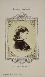 S. BERNHARDT , FIGARO ALBUM , D 'APRES MULNIER  PHOT. , FOTOGRAFIE TIP C.D.V. , 1870