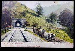 Salutari din Romania, Tunelul de la Busteni - CP ilustrata Clasica