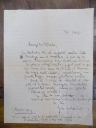 Scrisoare adresata lui Constantinescu Iasi, semnata Gala Galaction 1949