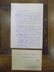 Scrisoare adresata lui Constantinescu Iasi, semnata Gala Galaction 1953