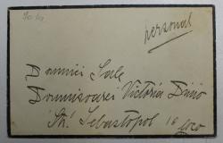 SCRISOARE EXPEDIATA DE ANDRONIC N. CANTACUZINO , SCRISA SI SEMNATA OLOGRAF , DATATA DECEMBRIE , 1938
