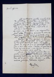 SCRISOARE OLOGRAFA , SCRISA SI SEMNATA DE PICTORUL ION THEODORESCU  - SION , DATATA 1922