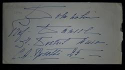 Scrisoare olografa, Semnata Nadia I. G. Duca