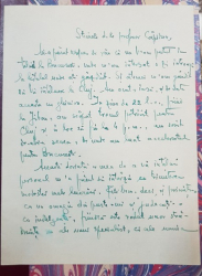 Scrisoarea lui Anastase N. Haciu catre T. Capidan - Rm. Sarat, 1924