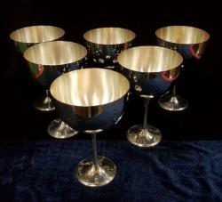 Set 6 cupe mari din argint