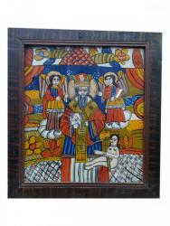 Sf. Haralambie, Icoana Romaneasca pe sticla, Circa 1900