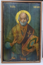 Sf. Nicolae, Icoana Greceasca pe lemn, Secol XVIII