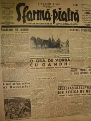 SFARMA PIATRA, ZIAR DE INFORMATIE SI LUPTA ROMANEASCA, ANUL XI, NR. 345, MARTI  10 FEBRUARIE 1942