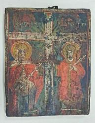 Sfintii Contantin si Elena, Icoana Romaneasca, Secol 19