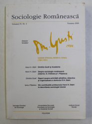 SOCIOLOGIE ROMANEASCA , REVISTA , VOLUMUL IV , NR. 3 , 2006