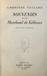SOUVENIRS D ' UN MARCHAND DE TABLEAUX par AMBROISE VOLLARD , 1938