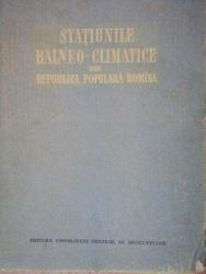 STATIUNILE BALNEO-CLIMATICE DIN REPUBLICA POPULARA ROMINA  1955