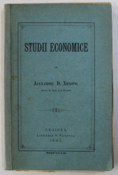 STUDII ECONOMICE de ALEXANDRU D . XENOPOL , 1882