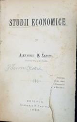 STUDII ECONOMICE de ALEXANDRU D. XENOPOL - CRAIOVA, 1882