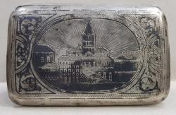 Cutie pentru tutun din argint Rusia 1890