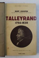 TALLEYRAND 1754 - 1838 par DUFF COOPER , 1937
