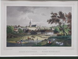 Targu Mures, Gravura colorata, Secol 19