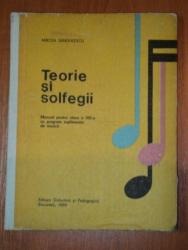 TEORIE SI SOLFEGII. MANUAL PENTRU CLASA A VIII A SCOLILOR DE MUZICA de  MIRCEA SANDULESCU  1975