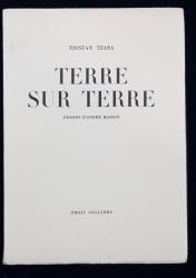 TERRE SUR TERRE de TRISTAN TZARA cu desene de ANDRE MASSON - GENEVE-PARIS, 1946