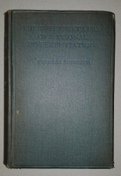 THE INTERPRETATION OF NATIONAL DIFFERENTIONS by NICOLAE PETRESCU - LONDRA, 1929 *DEDICATIE