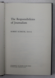 THE RESPONSIBILITIES OF JOURNALISM , 1984