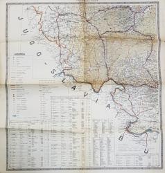TIMISOARA , FOAIA IV , HARTA de COLONEL V. TANASESCU , SCARA 1 / 400.000 , 1927