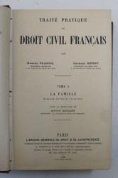 TRAITE PRATIQUE DE DROIT CIVIL FRANCAIS par MARCEL PLANIOL et GEORGES RIPERT , LA FAMILLE ( MARIAGE , DIVORCE , FILIATION ) , TOME II par MARCEL PLANIOL et GEORGES RIPERT , 1926
