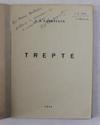 TREPTE de C.D. PAPASTASE , versuri , 1944 , DEDICATIE *