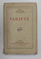 VARIETE par PAUL VALERY , 1924