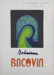 Vasile Dobrian, BACOVIA, Album de gravuri *Dedicatie