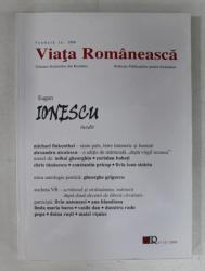 VIATA ROMANEASCA , REVISTA , FONDATA IN 1906 , ANUL CV , NR. 11 - 12 , NOIEMBRIE  - DECEMBRIE , 2009